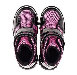 Детские ботинки еврозима Woopy Fashion розовые для девочек натуральная лаковая кожа размер 22-31 (7243) Фото 5