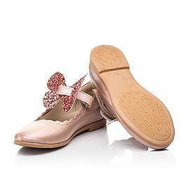 Детские туфли Woopy Fashion золотые для девочек натуральная кожа размер 27-36 (7244) Фото 2