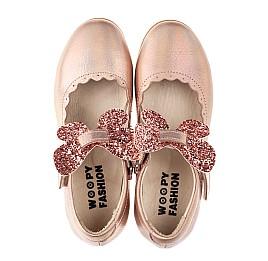 Детские туфли Woopy Fashion золотые для девочек натуральная кожа размер 27-36 (7244) Фото 5