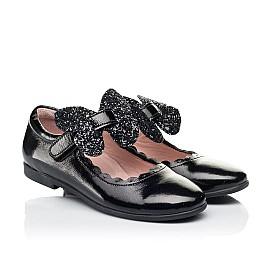Детские туфли Woopy Fashion черные для девочек натуральная лаковая кожа размер 26-35 (7245) Фото 1