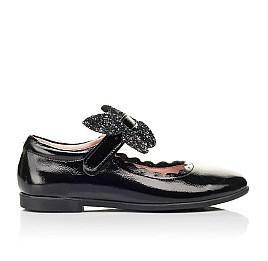 Детские туфли Woopy Fashion черные для девочек натуральная лаковая кожа размер 26-35 (7245) Фото 4