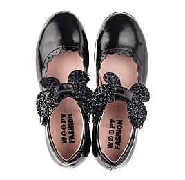 Детские туфли Woopy Fashion черные для девочек натуральная лаковая кожа размер 26-35 (7245) Фото 5