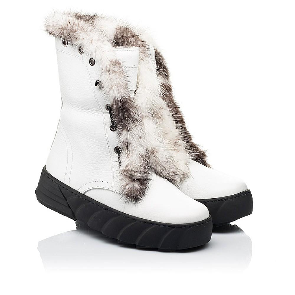 Детские зимние сапоги на меху Woopy Fashion белые для девочек натуральная кожа размер 31-39 (7251) Фото 1