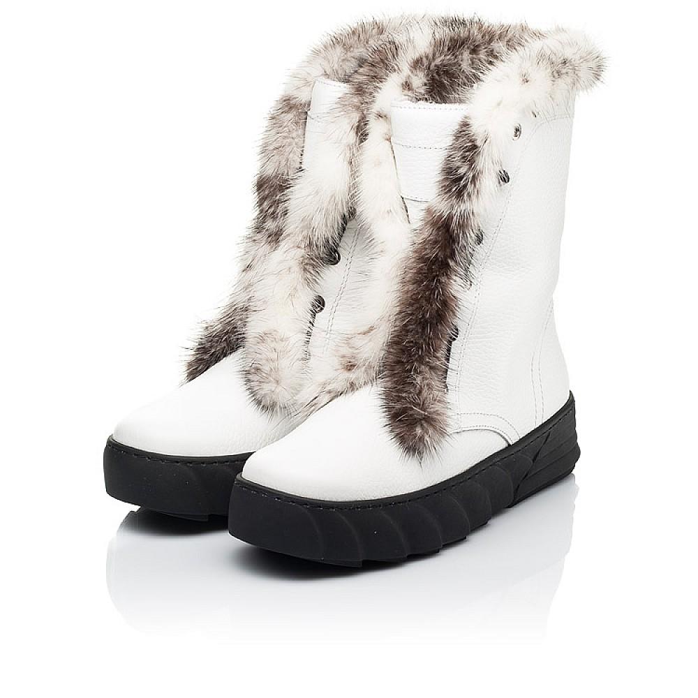 Детские зимние сапоги на меху Woopy Fashion белые для девочек натуральная кожа размер 31-39 (7251) Фото 3