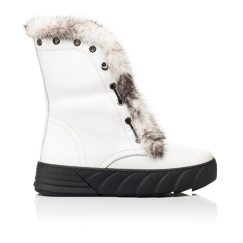 Детские зимние сапоги на меху Woopy Fashion белые для девочек натуральная кожа размер 31-39 (7251) Фото 4