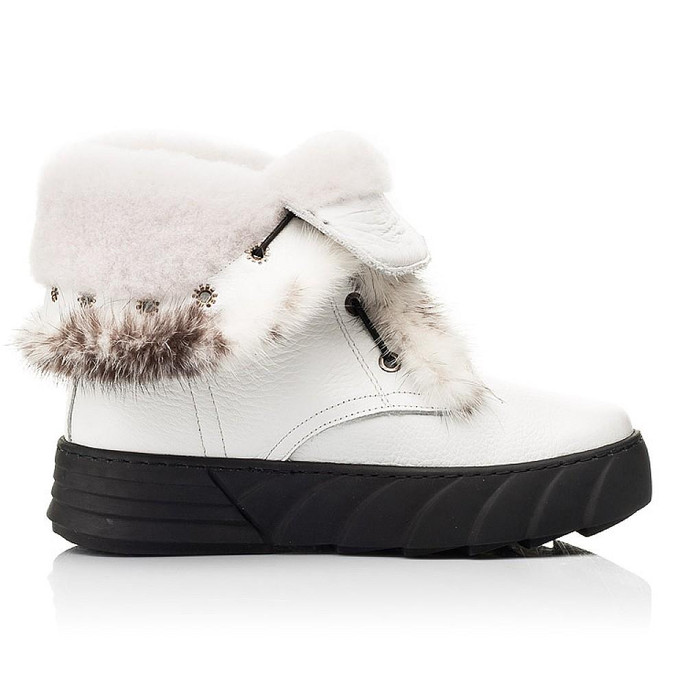 Детские зимние сапоги на меху Woopy Fashion белые для девочек натуральная кожа размер 31-39 (7251) Фото 5