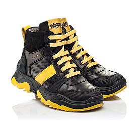 Детские демисезонные ботинки Woopy Fashion черные для мальчиков натуральная кожа размер 26-35 (7252) Фото 1