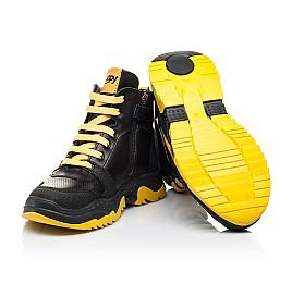 Детские демисезонные ботинки Woopy Fashion черные для мальчиков натуральная кожа размер 26-35 (7252) Фото 2