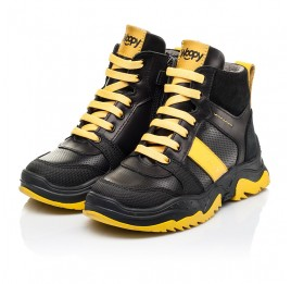 Детские демисезонные ботинки Woopy Fashion черные для мальчиков натуральная кожа размер 26-35 (7252) Фото 3