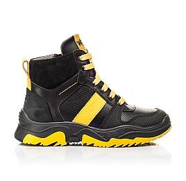 Детские демисезонные ботинки Woopy Fashion черные для мальчиков натуральная кожа размер 26-35 (7252) Фото 4