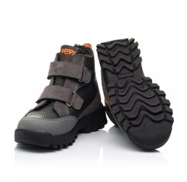 Детские зимние ботинки на шерсти Woopy Fashion черные, серые для мальчиков натуральный нубук размер 29-32 (7253) Фото 2