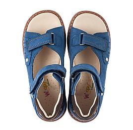 Детские босоножки Woopy Orthopedic синие для мальчиков натуральный нубук размер 26-36 (8001) Фото 5