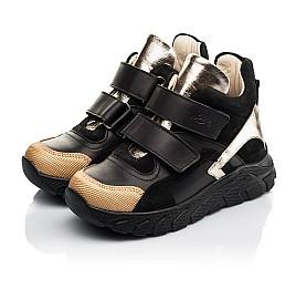 Детские демисезонные ботинки (подкладка кожа) Woopy Fashion черные для девочек натуральная кожа размер 26-39 (8003) Фото 3