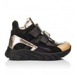 Детские демисезонные ботинки (подкладка кожа) Woopy Fashion черные для девочек натуральная кожа размер 26-39 (8003) Фото 4
