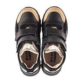Детские демисезонные ботинки (подкладка кожа) Woopy Fashion черные для девочек натуральная кожа размер 26-39 (8003) Фото 5