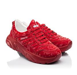 Детские кроссовки (шнурок-резинка) Woopy Fashion красные для девочек натуральная кожа размер 33-39 (8005) Фото 1