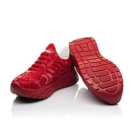 Детские кроссовки (шнурок-резинка) Woopy Fashion красные для девочек натуральная кожа размер 33-39 (8005) Фото 2