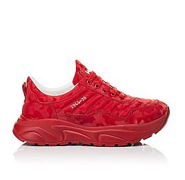 Детские кроссовки (шнурок-резинка) Woopy Fashion красные для девочек натуральная кожа размер 33-39 (8005) Фото 4