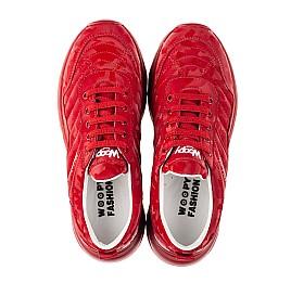 Детские кроссовки (шнурок-резинка) Woopy Fashion красные для девочек натуральная кожа размер 33-39 (8005) Фото 5