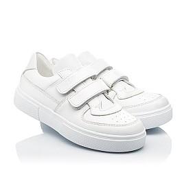 Детские кеды Woopy Fashion белые для девочек натуральная кожа размер 26-40 (8009) Фото 1