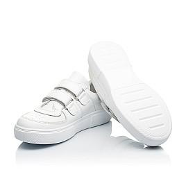 Детские кеды Woopy Fashion белые для девочек натуральная кожа размер 26-40 (8009) Фото 2