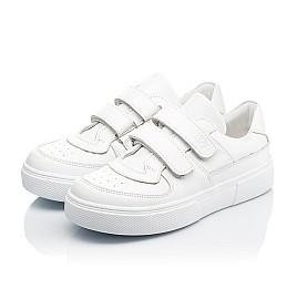Детские кеды Woopy Fashion белые для девочек натуральная кожа размер 26-40 (8009) Фото 3