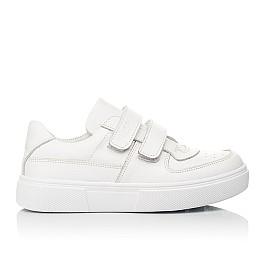 Детские кеды Woopy Fashion белые для девочек натуральная кожа размер 26-40 (8009) Фото 4