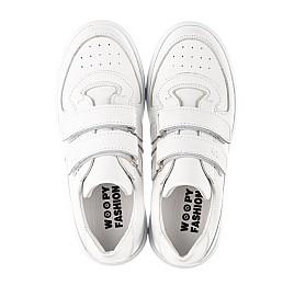 Детские кеды Woopy Fashion белые для девочек натуральная кожа размер 26-40 (8009) Фото 5
