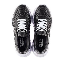 Детские кроссовки Woopy Fashion черные для девочек натуральная кожа размер 33-40 (8011) Фото 5