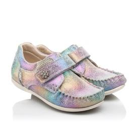 Детские мокасины Woopy Fashion разноцветные для девочек натуральный нубук размер 23-30 (8012) Фото 1