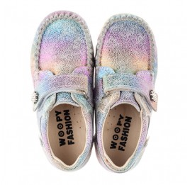 Детские мокасины Woopy Fashion разноцветные для девочек натуральный нубук размер 23-30 (8012) Фото 5