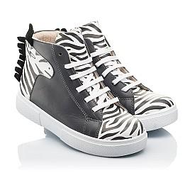 Детские демисезонные ботинки Woopy Fashion серые для девочек натуральная кожа размер 21-30 (8013) Фото 1