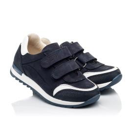 Детские кроссовки Woopy Fashion синие для мальчиков натуральный нубук размер 20-37 (8016) Фото 1