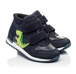 Детские демисезонные ботинки Woopy Fashion синие для мальчиков натуральный нубук размер 20-30 (8018) Фото 1