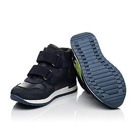 Детские демисезонные ботинки Woopy Fashion синие для мальчиков натуральный нубук размер 20-30 (8018) Фото 2