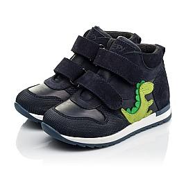 Детские демисезонные ботинки Woopy Fashion синие для мальчиков натуральный нубук размер 20-30 (8018) Фото 3