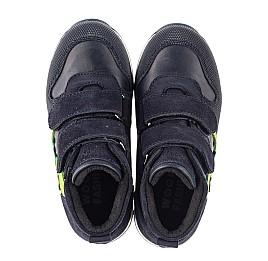 Детские демисезонные ботинки Woopy Fashion синие для мальчиков натуральный нубук размер 20-30 (8018) Фото 5