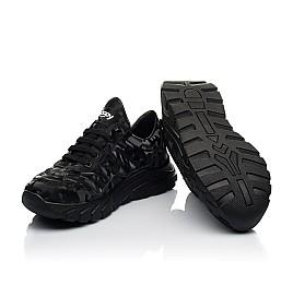 Детские кроссовки (шнурок-резинка) Woopy Fashion черные для девочек натуральная кожа размер 33-40 (8020) Фото 2