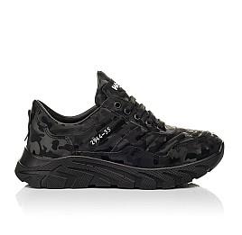 Детские кроссовки (шнурок-резинка) Woopy Fashion черные для девочек натуральная кожа размер 33-40 (8020) Фото 4