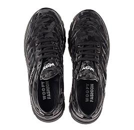 Детские кроссовки (шнурок-резинка) Woopy Fashion черные для девочек натуральная кожа размер 33-40 (8020) Фото 5