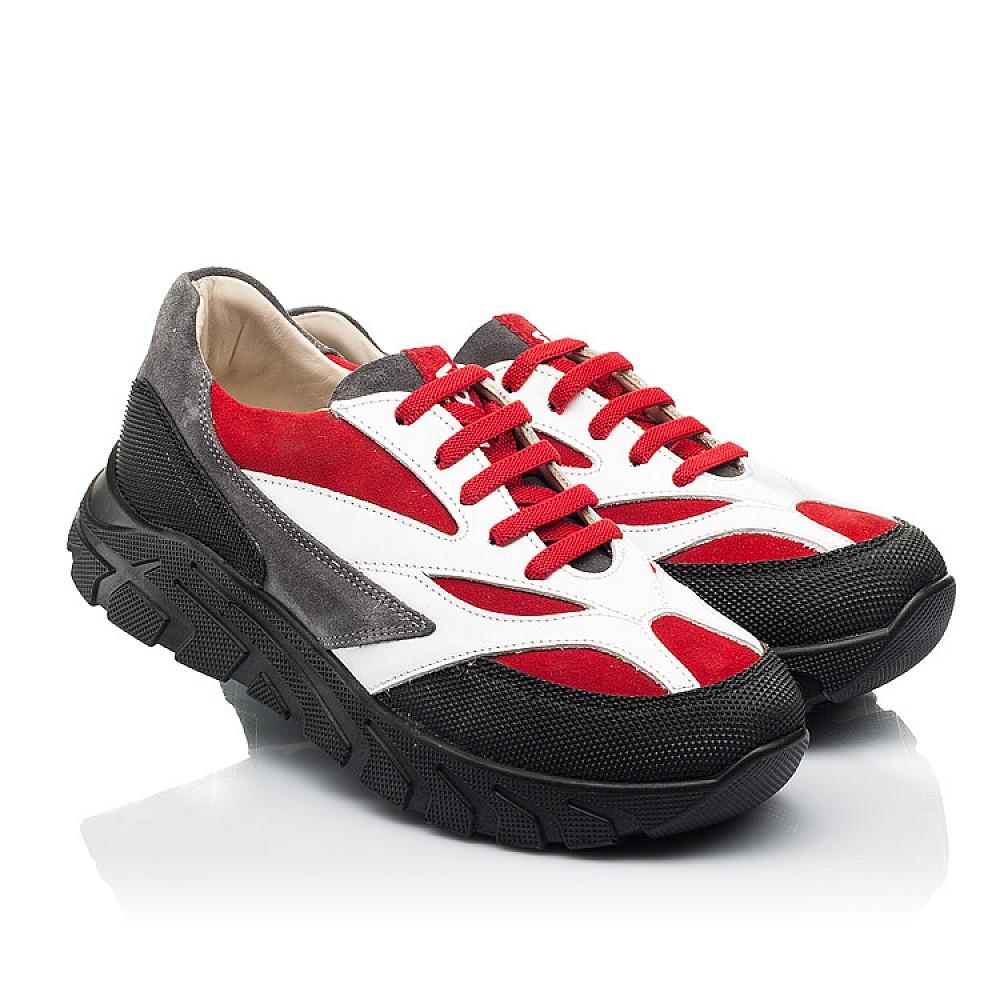 Детские кроссовки Woopy Fashion красные, белые для мальчиков натуральный нубук, кожа размер 33-40 (8021) Фото 1