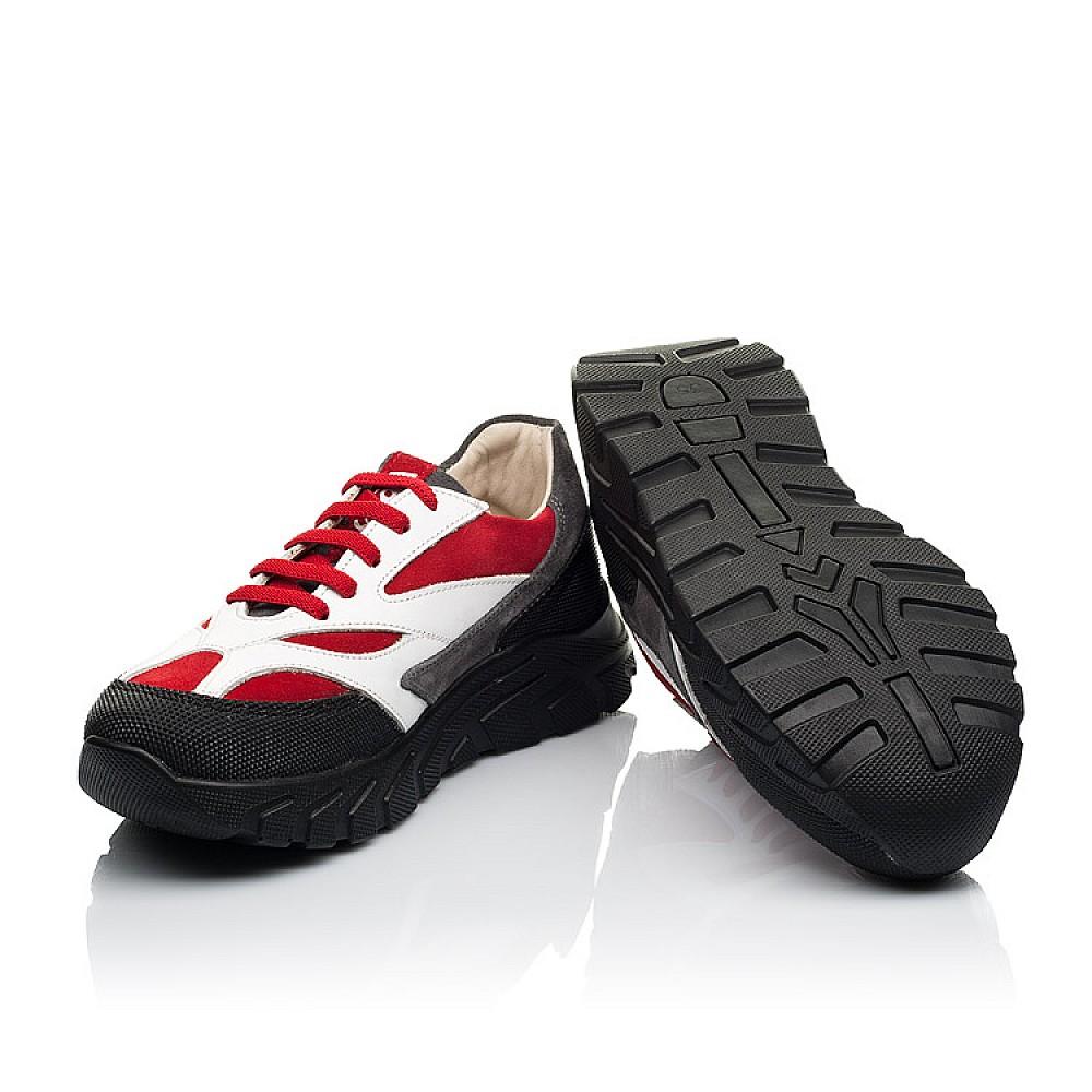 Детские кроссовки Woopy Fashion красные, белые для мальчиков натуральный нубук, кожа размер 33-40 (8021) Фото 2