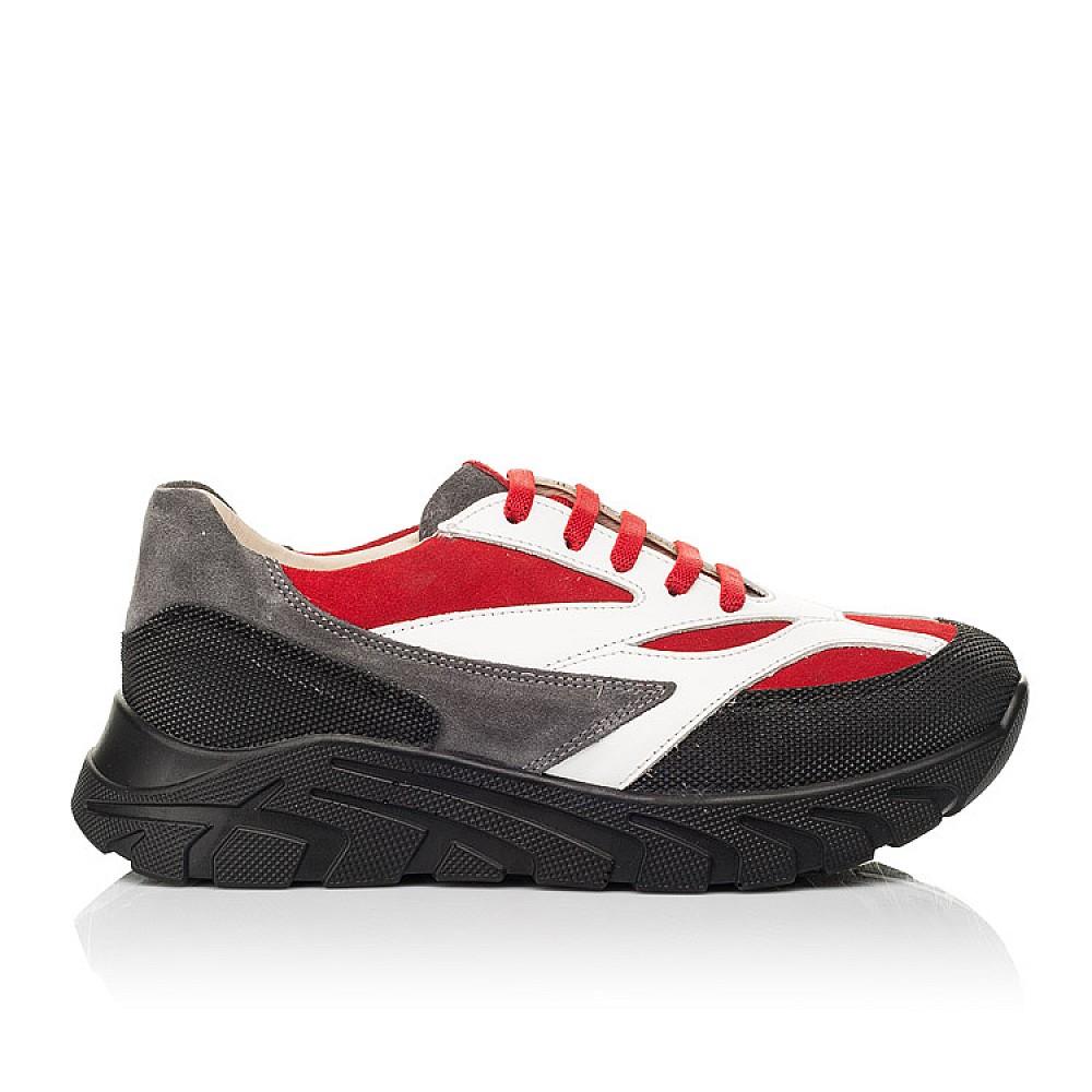 Детские кроссовки Woopy Fashion красные, белые для мальчиков натуральный нубук, кожа размер 33-40 (8021) Фото 4