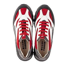 Детские кроссовки Woopy Fashion красные, белые для мальчиков натуральный нубук, кожа размер 33-40 (8021) Фото 5