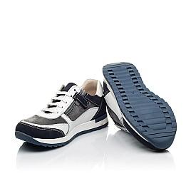 Детские кроссовки (боковая молния) Woopy Fashion белые для мальчиков натуральная кожа, замша размер 22-33 (8023) Фото 2