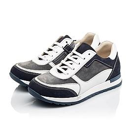 Детские кроссовки (боковая молния) Woopy Fashion белые для мальчиков натуральная кожа, замша размер 22-33 (8023) Фото 3