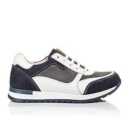 Детские кроссовки (боковая молния) Woopy Fashion белые для мальчиков натуральная кожа, замша размер 22-33 (8023) Фото 4