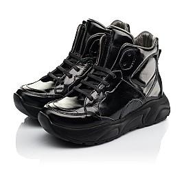 Детские демисезонные ботинки (подкладка кожа) Woopy Fashion черные для девочек лаковая кожа размер 30-40 (8024) Фото 3