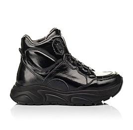 Детские демисезонные ботинки (подкладка кожа) Woopy Fashion черные для девочек лаковая кожа размер 30-40 (8024) Фото 4