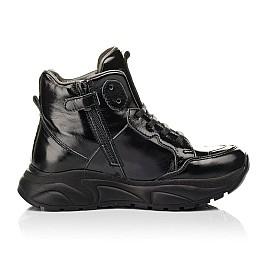 Детские демисезонные ботинки (подкладка кожа) Woopy Fashion черные для девочек лаковая кожа размер 30-40 (8024) Фото 5